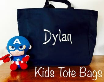 Boys Tote Bags,Personalized Kids Tote Bag, Kids Tote, Kids Bag,Tote Bag,Book Bag,Personalized Tote Bag,Beach Bag