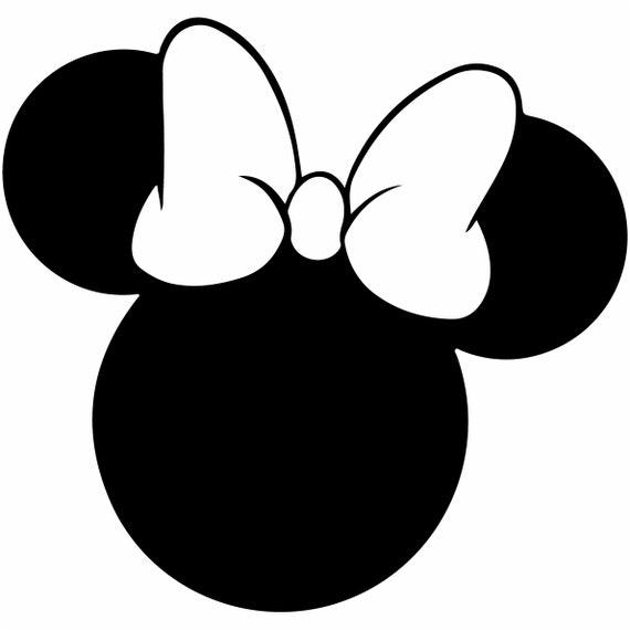 Minnie Mouse Svg Outline Laptop Cup Decal SVG Digital Download