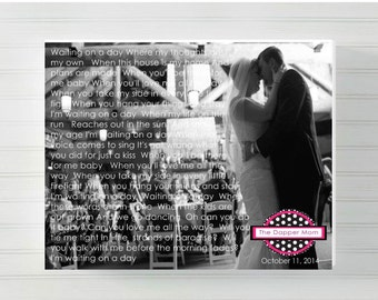 First Dance Lyrics with Image/Anniversary Gift/Wedding Anniversary/First Song/Wedding Song/Wedding Gift/Gift for Spouse/First Anniversary