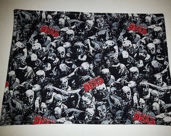 Simple fabric placemat perfect for lunch or school Walking Dead *SALE*
