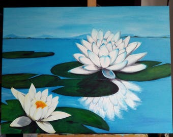 "Painting ""Lotus pond"""