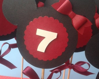 Topper / Minnie / Disney / birthday / decorations /holiday decorations Topper large 12 pieces Minnie