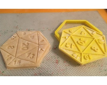 D20 - 20 Sided Dice Cookie Cutter