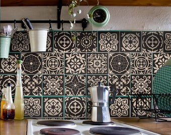 Tile Decals Carrelage Stickers Kitchen Bathroom Portuguese Set 12 Pcs Wall Tattoo Wall Art