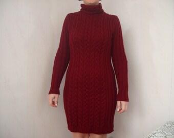 Dress knitting dress casual
