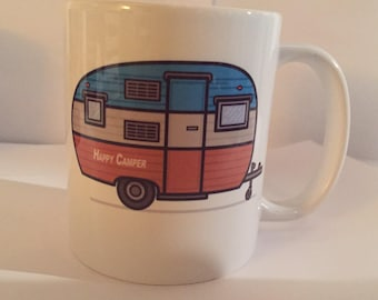 Vintage camping mug