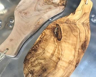 Olive Wood Serving Platters or small cutting board, ideal for meals, BBQ or cheese