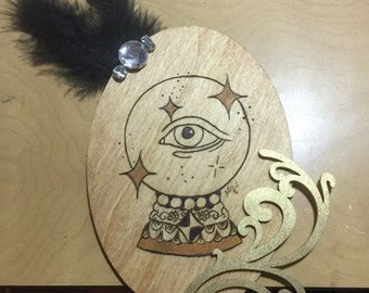 A Future From the Gypsy ~ Woodburning 5x7 Oval