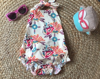 Baby girl HOLIDAY ROMPER