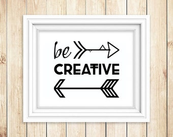 Be Creative Wall Art
