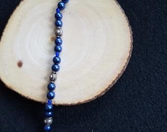 Cobalt blue beaded bracelet