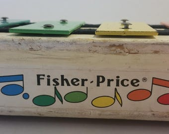 Fisher Price Pull A Tune Xylophone, Vintage Toys, 1960s, 1970s