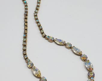 Beautiful & Classic AB Rhinestone Necklace