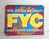 Fine Young Cannibals Album Cover Notebook Handmade Spiral Journal
