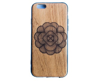 THEME FLOWER |||| Premium Engraved Real Wooden Phone Case For iPhone 5/6/6s/7/7+ , Samsung S6edge/S7/S7edge