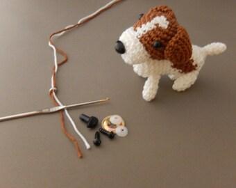 Amigurumi Jack Russelterriër, crochet dog, crocheting dog, jack russell terriër