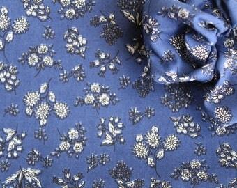 Blume - Blue Floral Scrunchie