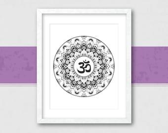 Yoga Print, Yoga Room Decor, Yoga Studio Decor, Yoga Art, Yoga Wall Art, Zen Wall Art, Zen Wall Decor, Meditation Room, Zen Art, Yoga Studio