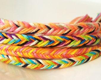 NEW! HANDMADE! Set of fishtail braid friendship bracelets