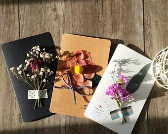 Handmade 3D dried / preserved flower ( leaf ) card