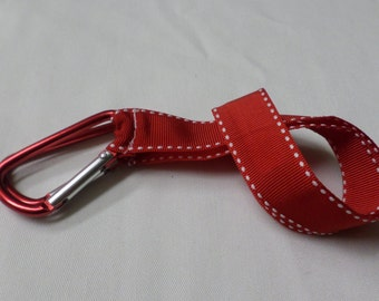 MarQet Strap Red w/White Stitching