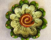 Green and Yellow 3D Flowe...