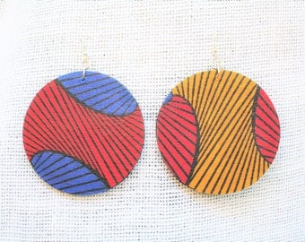 Ankara African Fabric Earrings