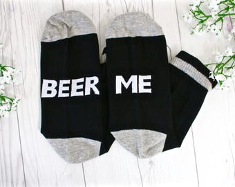 If You Can Read This Socks - Beer Me - Mens Novelty Socks - Novelty Socks - Gift Ideas - Funny Gift Ideas