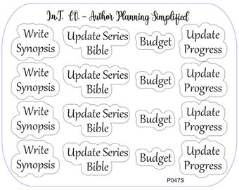 Author Planner Stickers - Word Sheet 12