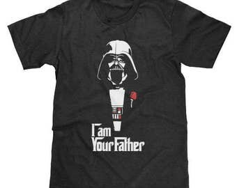 Darth Vader I Am Your Father Shirt Star Wars Godfather (Licensed) Available in Adult & Youth Sizes