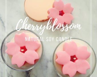 Cherry blossom Soy Candle /home decor / Wedding gift / Baby shower gift / Bomboniere / Birthday gift