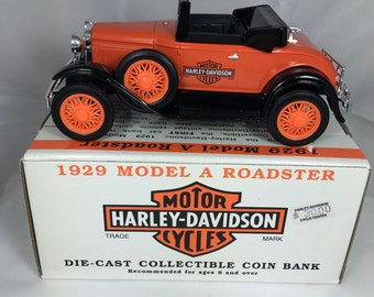"1929 Model A Roadster Die Cast Bank W/ Key ""Limited Edition"""