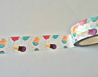 Ice Cream Japanese Washi Tape. Scrapbook and Stationery Tape. Pretty Tape.
