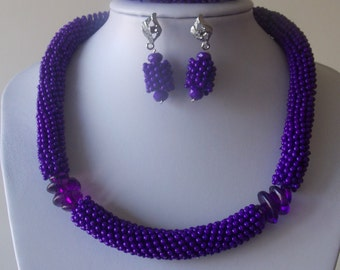 Star beads, purple