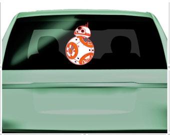 Car Decal, Star Wars BB-8 Car Decal, Star Wars Car Decal, BB-8 Car Decal