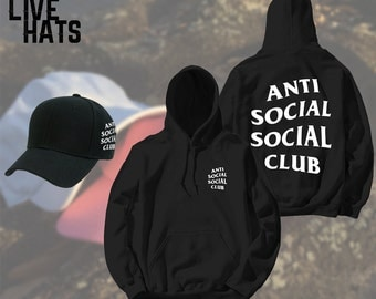 AntiSocial Social Club Combo (Hat and Hoodie) Anti Social Social Club hat Kanye hat - Unisex hat - Kanye West - Concert hat