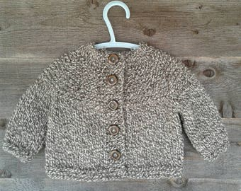 Knitted Child's Wool Sweater