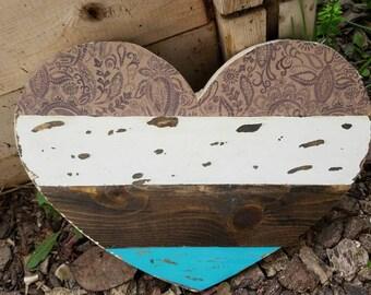 Rustic Wooden Mini Heart