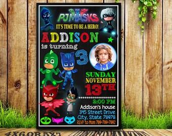 Pj Mask Invitation / Pj Masks / Pj Masks Birthday / Pj Masks Birthday Invitation / Pj Masks Party Invitation / Pj Masks Printable / Pj Masks
