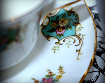 """Earl Grey Scent Soy Wax Vintage Teacup candle """"True Love"""" by Royal Staffordshire, England."""
