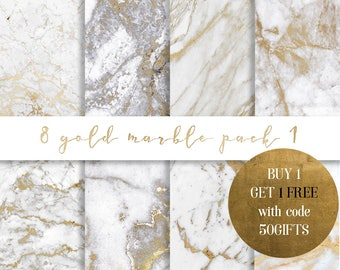 Gold marble digital paper, Gold marble paper, Marble paper, marble background, gold veins marble, glitter marble, marble commercial use
