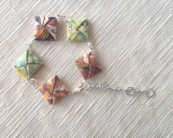 Origami squares bracelet