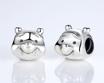 Authentic Sterling Silver poorbear charm beads perfect fit for pandora and troll or european bracelets