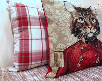 The Amelia Cat Tapestry Cushion Cover