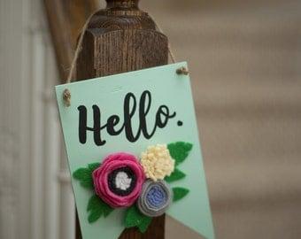 Custom Wooden Pendants with Felt Flowers