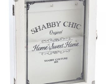 White shabby chic key cabinet