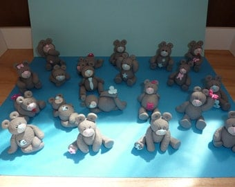 ON ORDER!   Decorative Pooh in fimo. Baptism, or dragees containing table decoration