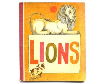 1971 Lions Vintage School Reader Book from Houghton Mifflin