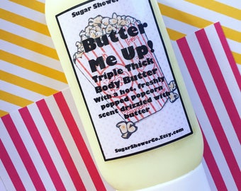 Popcorn Scented Body Butter Lotion - Hand & Body Lotion - Popcorn Scented - Whipped Body Butter - Thick Lotion