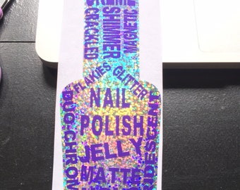 Nail Polish Bottle Decal